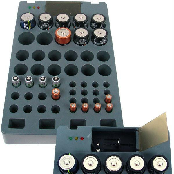 Rechargeable Alkaline Batteries >> Battery Organizer With Tester Rechargeable Alkaline Batteries As Seen On Tv