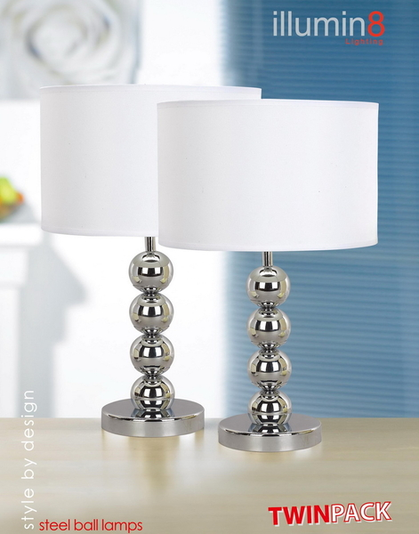 lampara steel ball lamps lamparas mesita de noche anunciado en tv teletienda pack - Lamparas Mesita Noche
