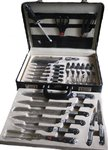 Set Kitchen Knives 25 Pieces with carrying case | As seen on TV