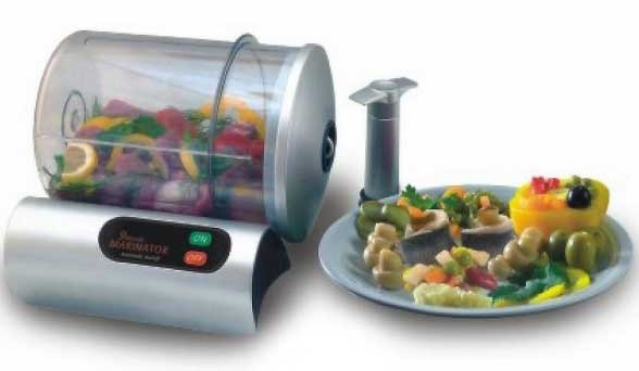 9 minute electric vacuum food marinator as seen on tv teleshopping as seen. Black Bedroom Furniture Sets. Home Design Ideas