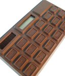 Calculator BIG CHOCOLATE solar powered 16,5x10 cm
