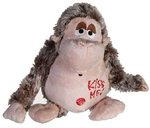 "Plush Monkey ""KISS ME"" with motion sensor 