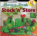 54 Plastic Container Set Always Fresh Stack n Store | As seen on TV