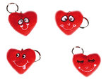 Funny Faces Heart Keychain | Romantic Gift