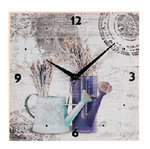 Wall Clock. Made of Lino on Wooden frame