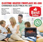 Electric Heater Fireplace BEST ZELLER HC-300