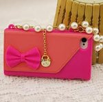 Iphone Handbag Case with Pearls