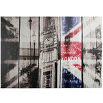Vintage London Picture on Linen Canvas 50 x 70