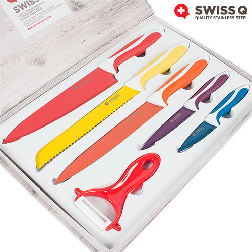 Buy Swiss Q 6 Stainless Steel Knife Set At Wholesale Price